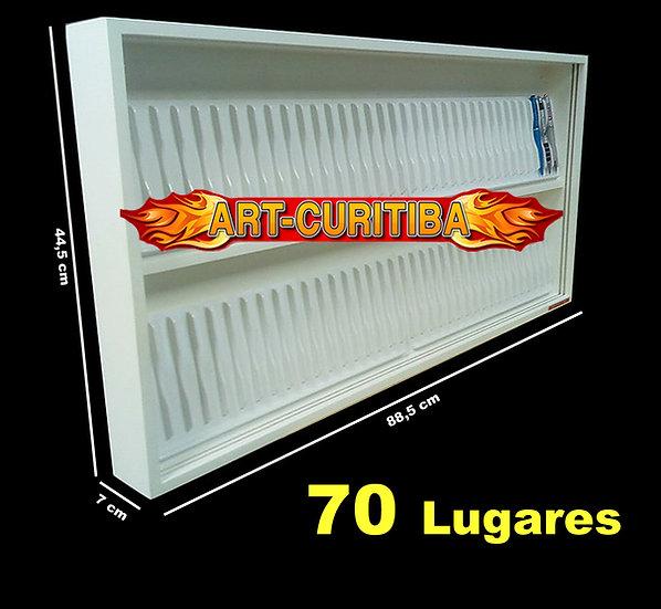Estante Expositor De Parede P/ 70 Canetas ( Com Portas Acr)