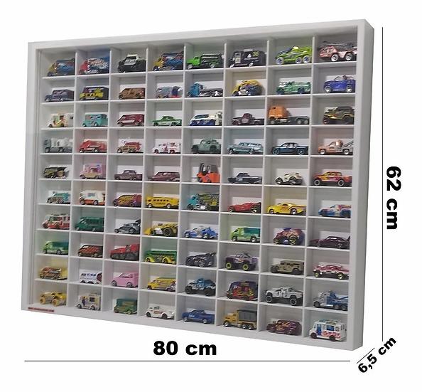 Estante Expositor Coleção 80 Nichos Hot Wheels 80x62x6,5