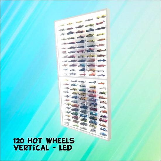 Vertical + LED( 120 ) Nichos Hot Wheels 1;64 Coleção Decoração