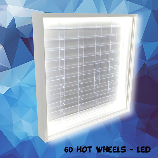 Estante Expositor - Led ( 60 ) Hot Wheels Coleção Miniaturas