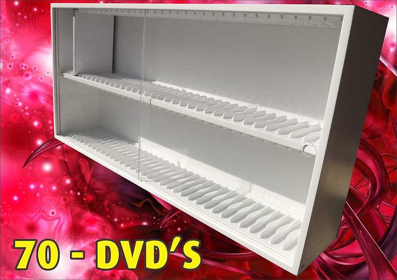 Estante 70 Lugares P/ Dvd Ou Blu-Ray - Coleção - Expositor