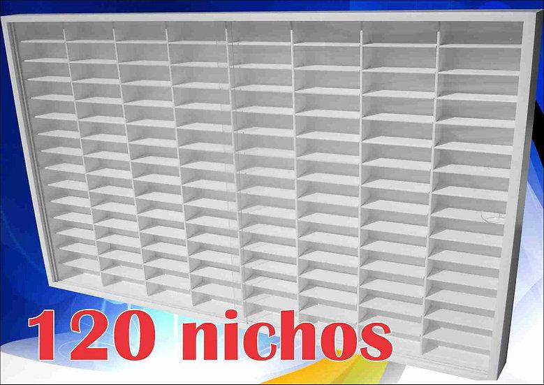 (120) - Hot Wheels = 80x62x6,5 -estante -coleção -decoração