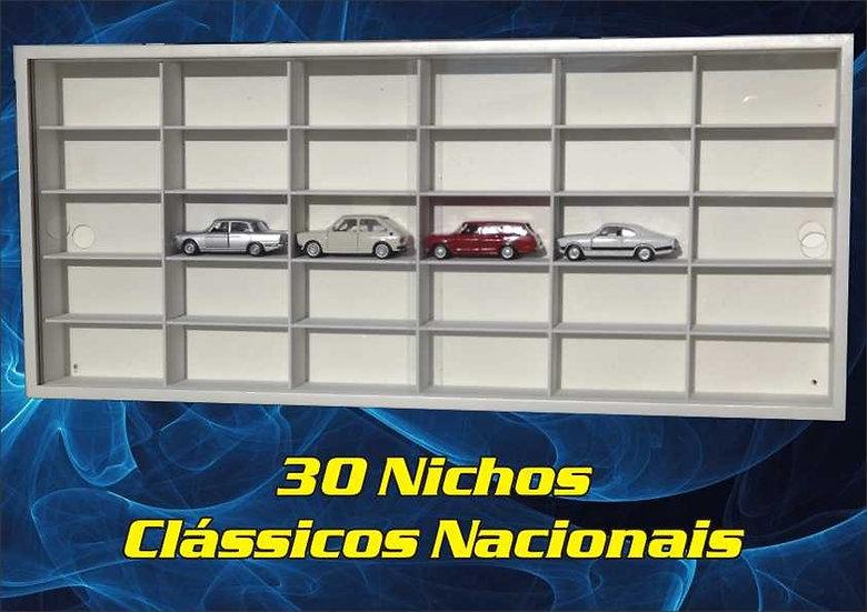 Estante 30 Nichos 1:43 - ( Clássicos Nacionais ) Hot Wheels