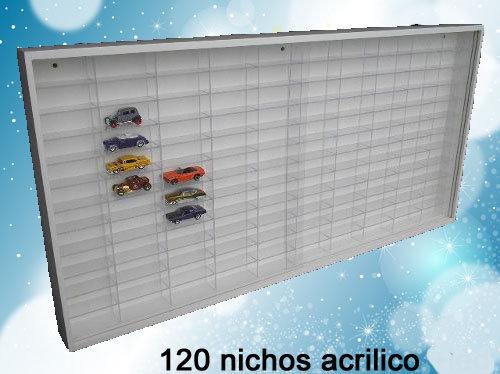 Estante Especial Hot Wheels ( 120 Nichos Acrílicos) Coleção - Branca