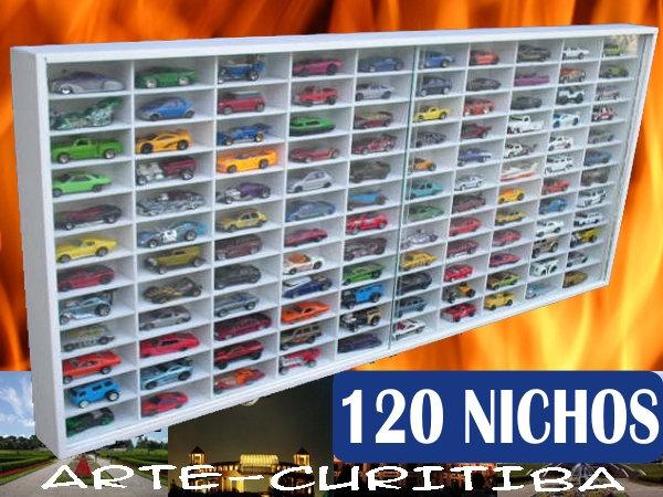 Estante Hot Wheels- 120 Nichos - Carrinhos Miniaturas -1;64