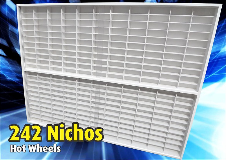 Estante (( 242 )) Nichos 1;64 Hot Wheels - 1.00 X 83 X 6.5