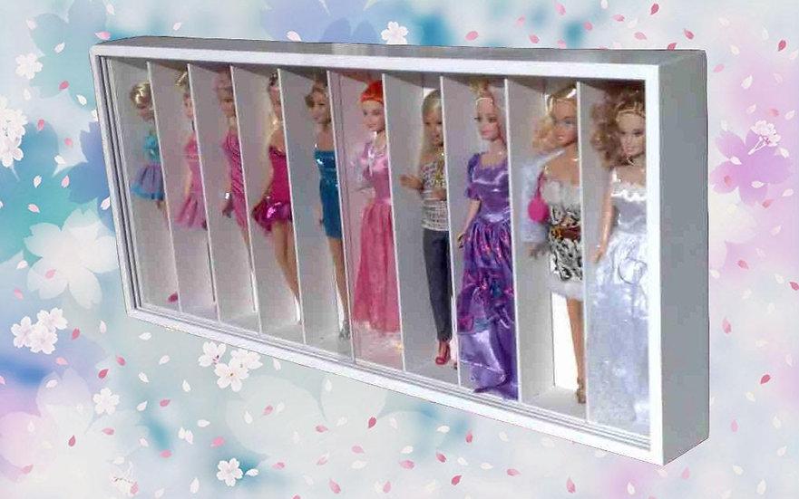 Estante Expositor P/ 10 Bonecas - Princesas Disney - Fadas