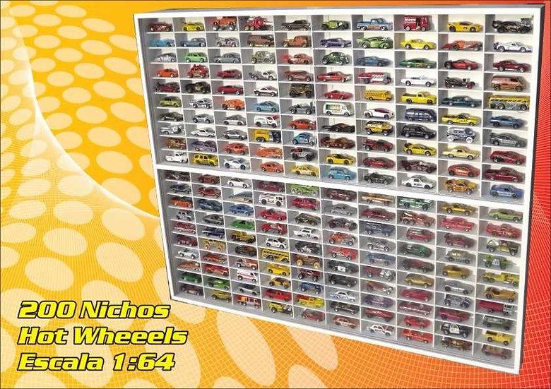 Estante (( 200 Lugares )) Hot Wheels - Miniaturas -coleção