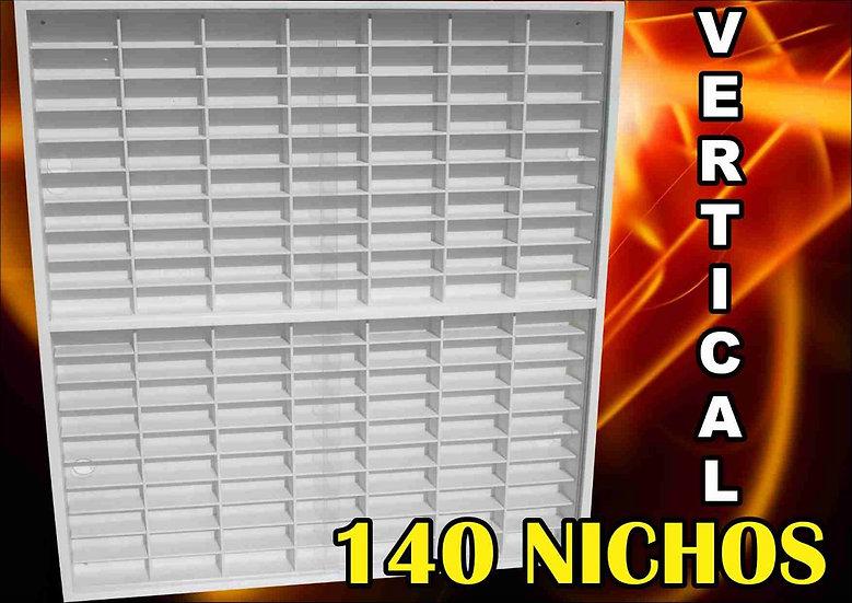 Estante vertical 140 nichos para hot wheels.