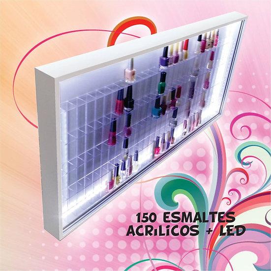 Expositor Estante (150) Esmaltes - Nichos Acrílicos + Led