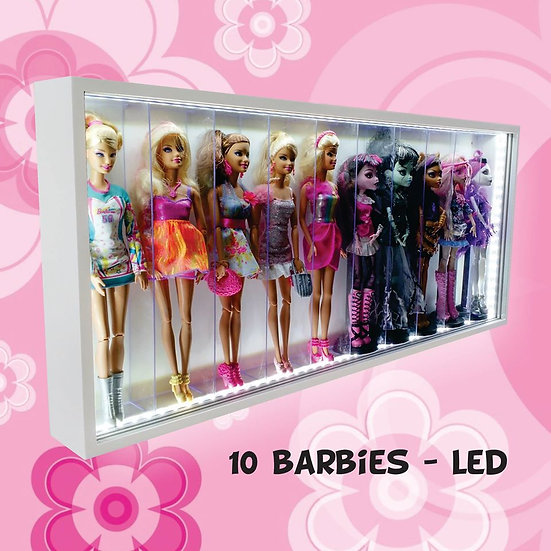 Estante Expositor (10 ) Barbie - Monster High - Frozen + Led