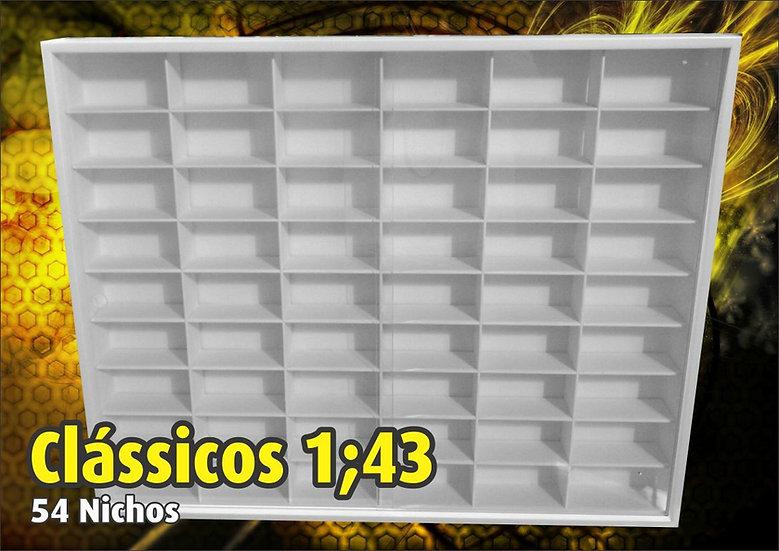 Estante ( 54 Nichos ) Clássicos Nacionais- 1:43 - Hot Whells