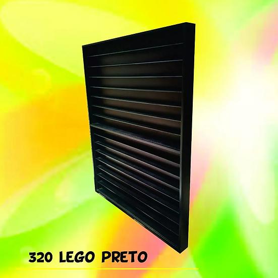 Lego Estante Expositor 320 Boneco Vertic Comics Marvel Preta