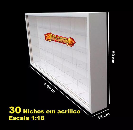Estante 30 Nicho Acrílicos Motos Harley Davidson 1:18 Maisto