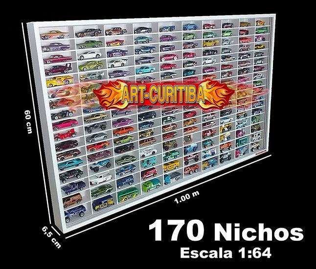 Estante Expositor 170 Hot Wheels Carrinho Minis 1;64 Coleção