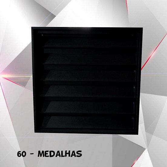 Porta Medalhas 60 Coleção (estante C/ Portas) Quadro Preta