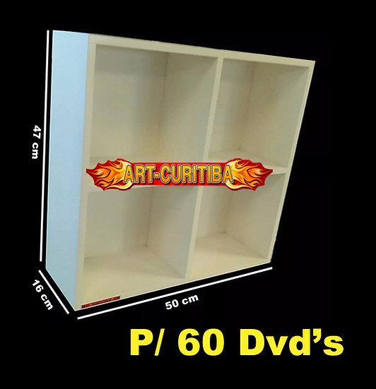 Estante Expositor 60 Dvd - Bluray - Cds - Jogos - Nicho Deco
