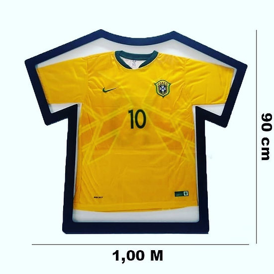 Quadro Moldura Camisas Esportivas Mdf Frente De Acrílico