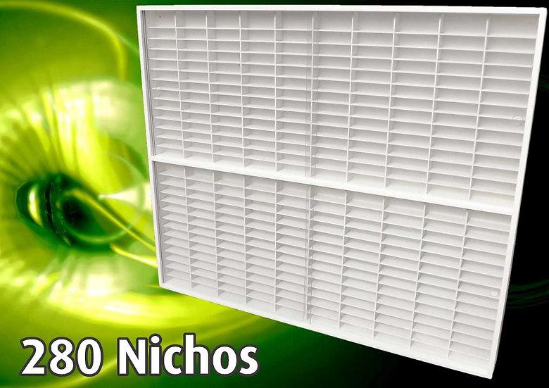 Estante Expositor 280 Nichos 1:64 Coleção Miniaturas Hot