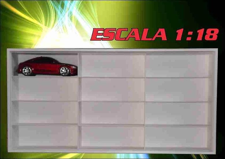 Estante Escala 1:18 -carros (( 12 Nichos Grande )) Hot Weels