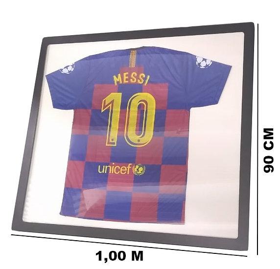 Quadro Moldura Camisas Esportivas Mdf Frente De Acrílico -Retangular