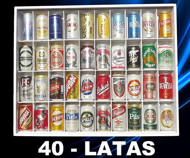 Estante Para ( 40 ) Latas Cerveja - Refrigerante - Coleção
