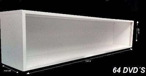 Estante Expositor 64 Dvd -bluray Cds (com Portas Acrilicos)