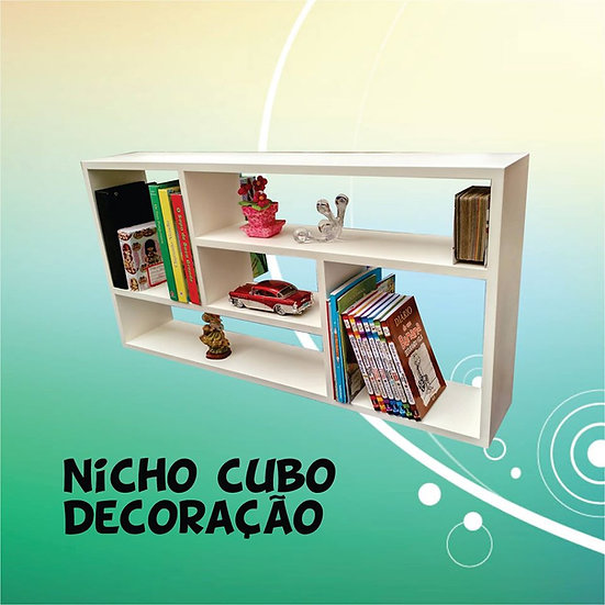 Nicho Cubo Grande - 1.00x50x17 - Decoração - Mdf