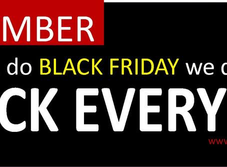 Celebrate Black Friday 2017 EVERYDAY @ Judine Motors