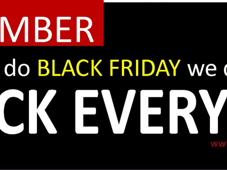 Celebrate Black Friday 2017 EVERYDAY @ Judine Motors