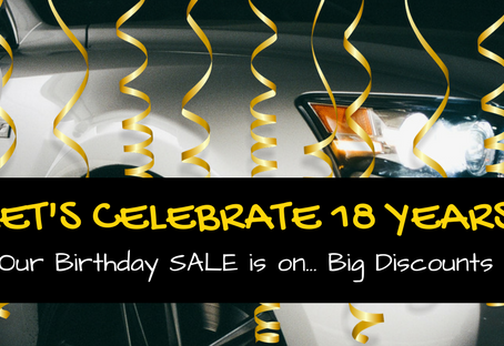 Celebrating 18 years in the Used Car Market