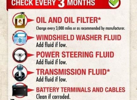 Car Maintenance Chart