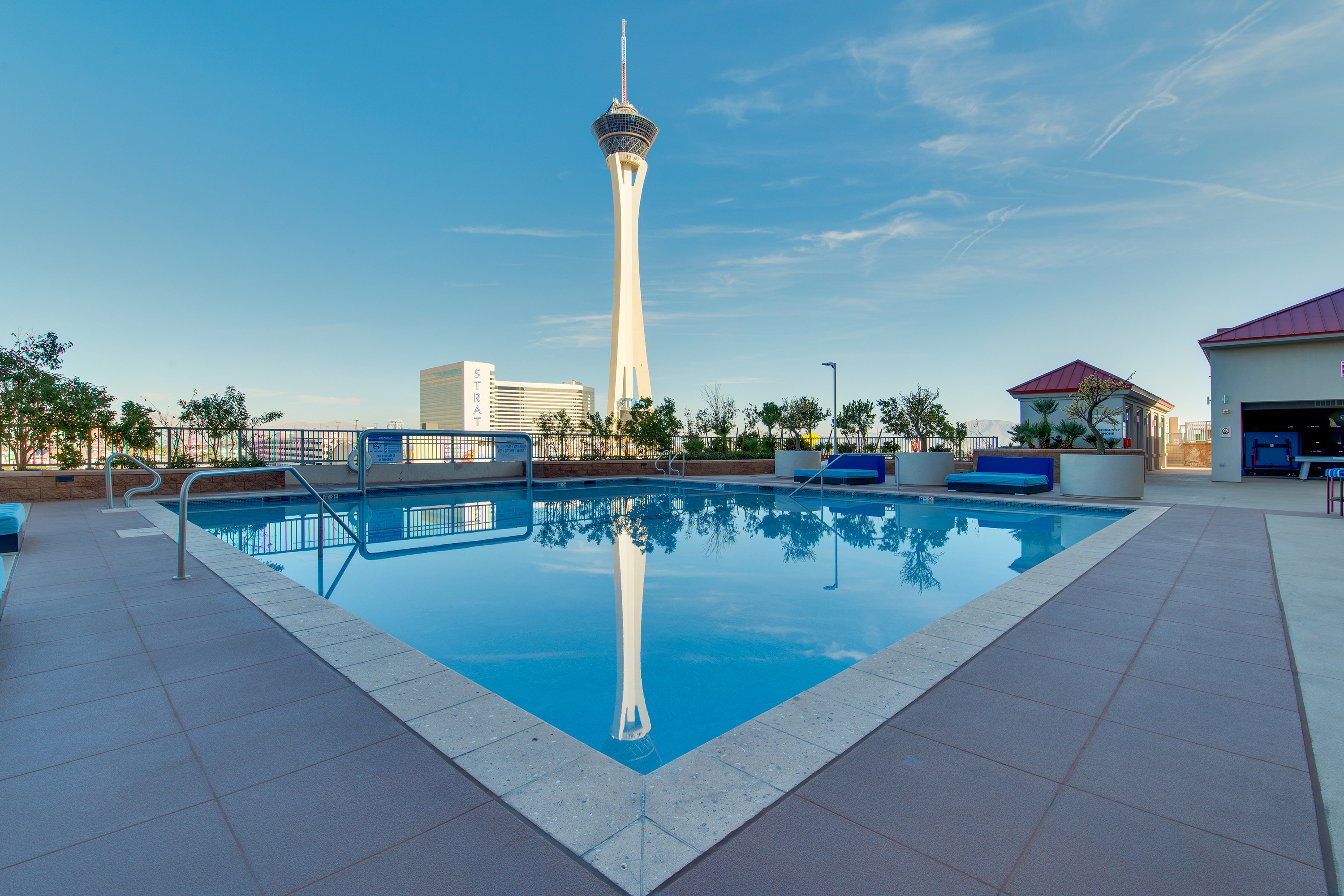 The Stratosphere From Pool View