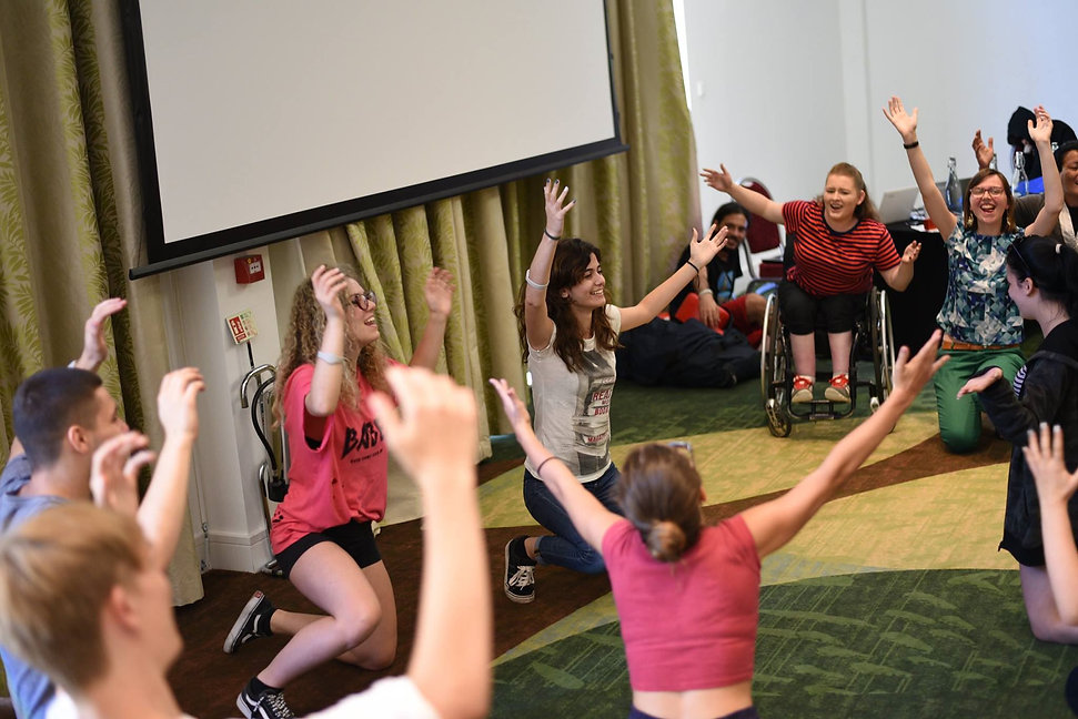 An EVA FEM group meeting, an inclusive group for young women of any background