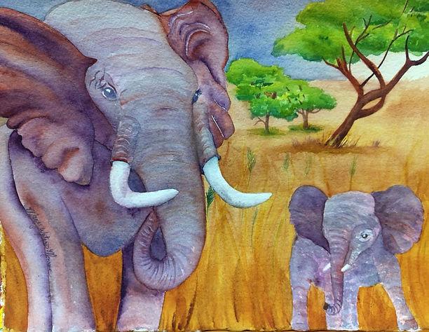 Elephant family Mary Waters  Monroe.jpg