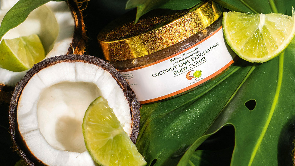 Natural Hydration Coconut Lime Exfoliating Body Scrub
