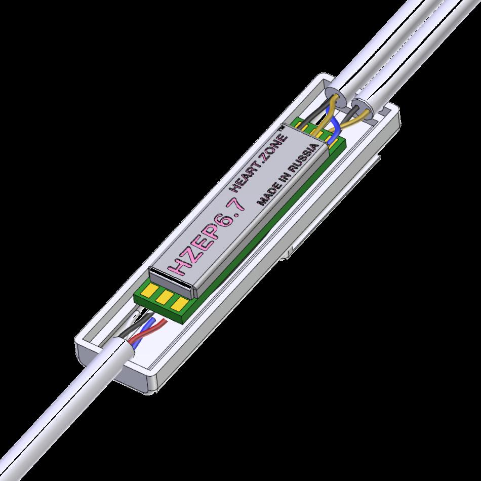 HZEP6.7 ECG micro-module for earphones
