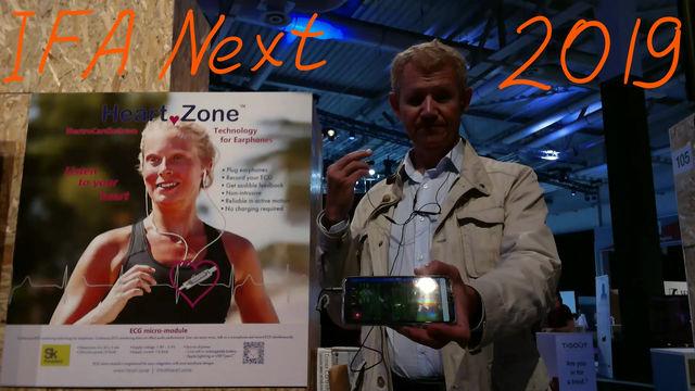 ECG for earphones demo at IFA Next