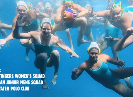 Epic Scenes as Australian Water Polo Team Plays on the Great Barrier Reef