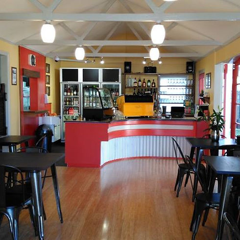 inside look of abbey road burgers, bar and cafe