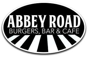 Abbey Road Burgers, Bar & Cafe logo an homepage