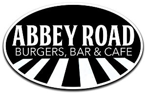 Abbey Road Burgers, Bar & Cafe logo an homepage