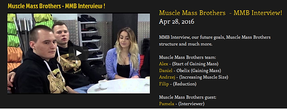 Muscle Mass Brothers Motivational, Interviews, Gym, Training and Diet Videos