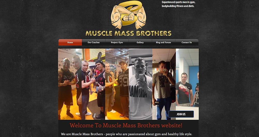 MuscleMassBrothers Website
