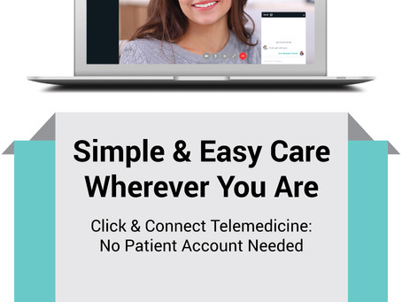 TELEHEALTH VISITS...have you tried it yet?