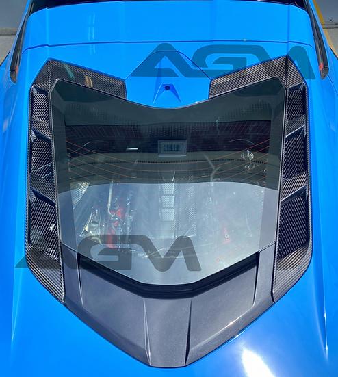 AGM C8 Corvette Carbon Fiber Engine Hatch Vents