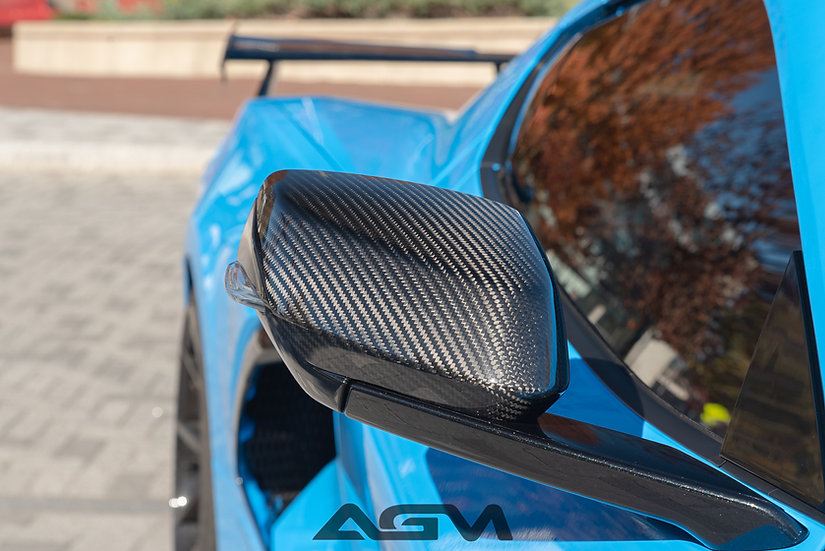 AGM Carbon Fiber C8 CORVETTE MIRROR CAPS