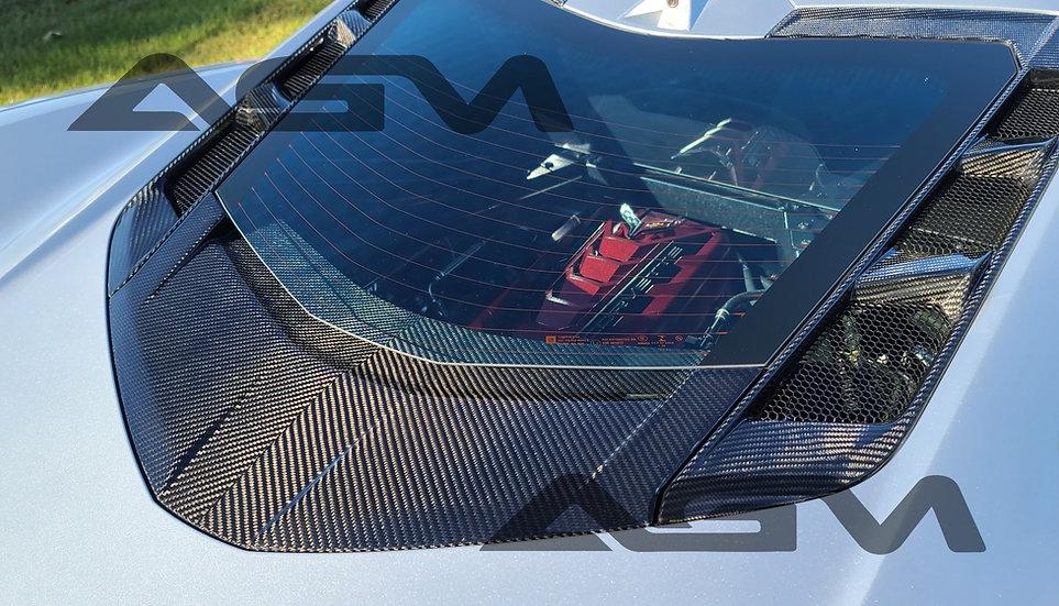 AGM C8 Corvette Carbon Fiber Lower Window Trim