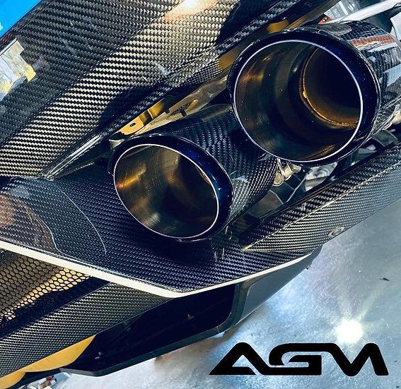 AGM C8 CORVETTE Visible Carbon Fiber Rear Diffuser