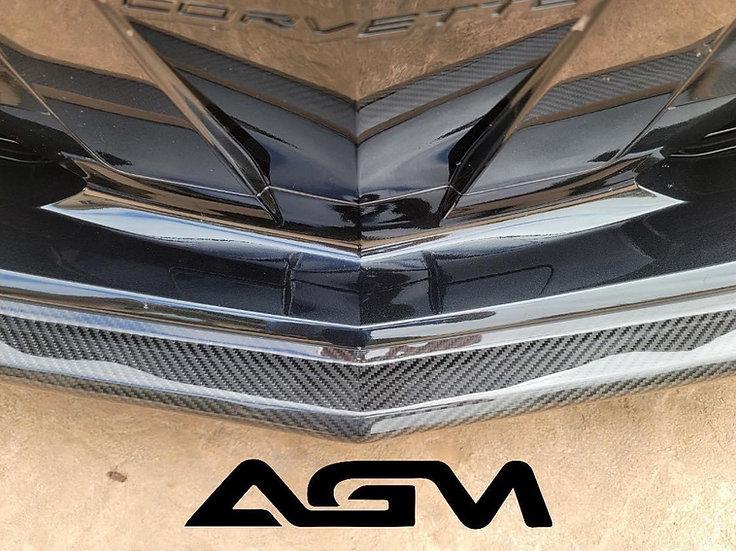 AGM C8 Corvette Visible Carbon Fiber or Carbon Flash Painted Z51 Front Splitter